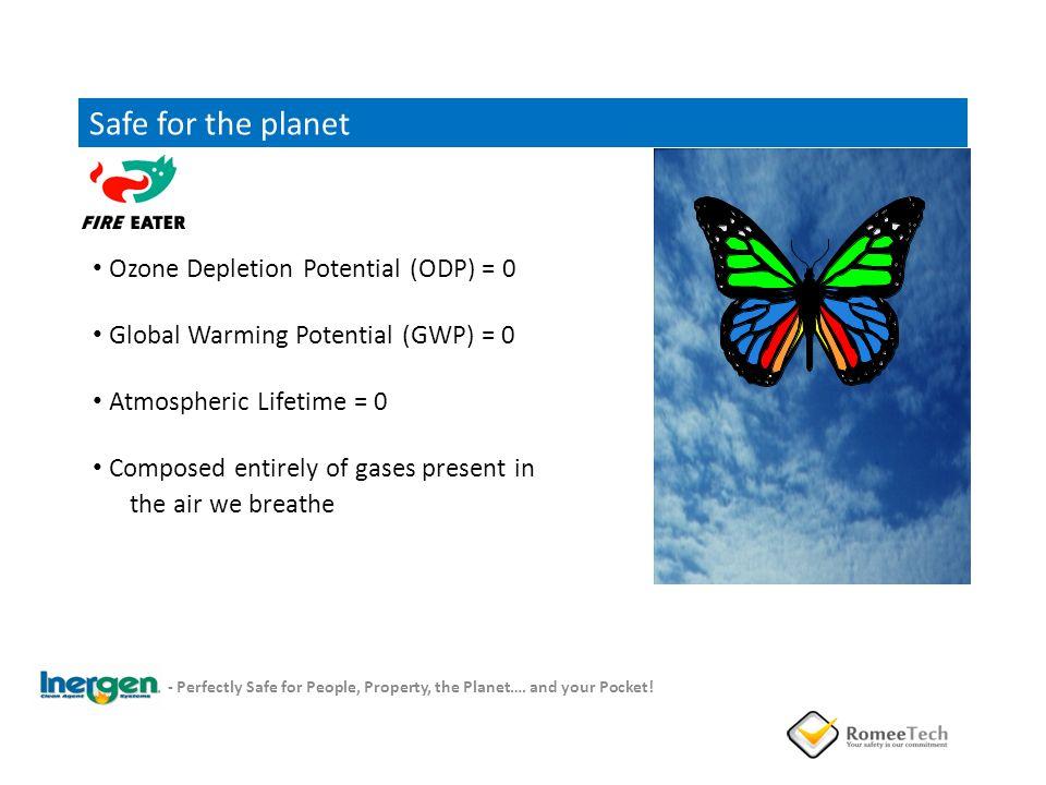 Safe for the planet Ozone Depletion Potential (ODP) = 0