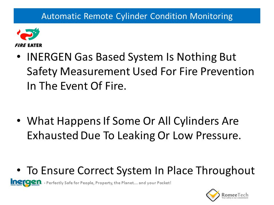 Automatic Remote Cylinder Condition Monitoring