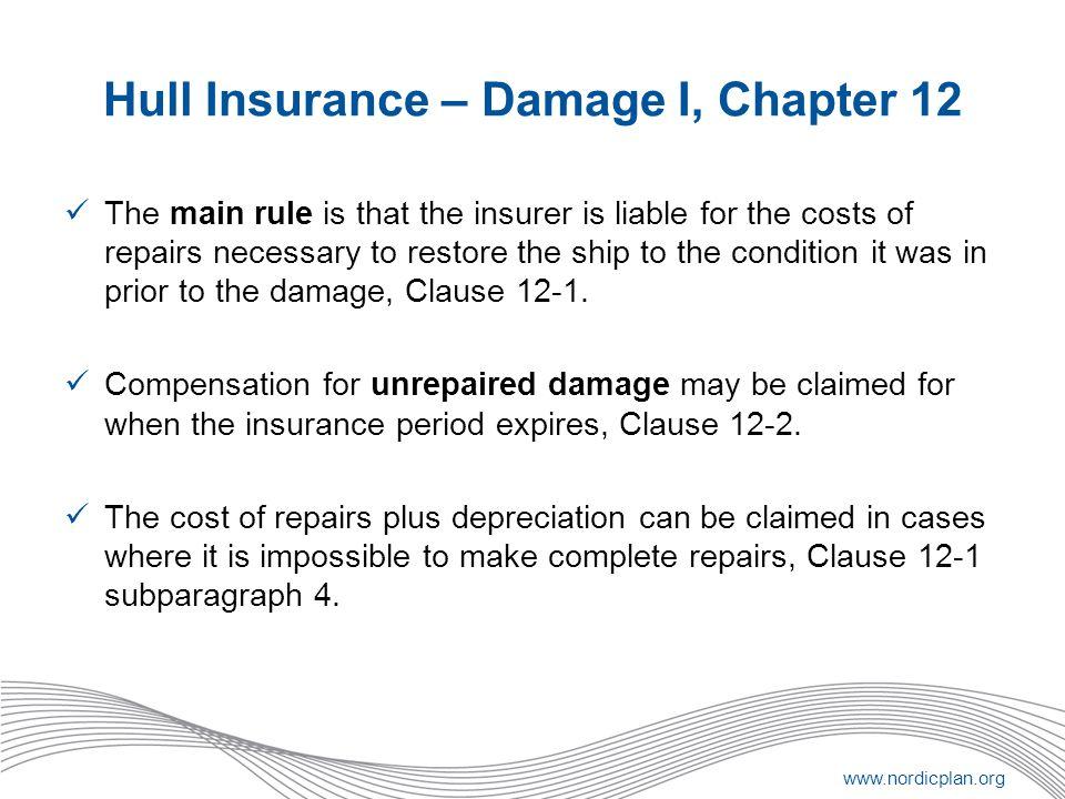 Hull Insurance – Damage I, Chapter 12