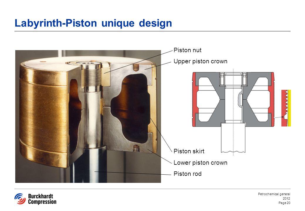 Labyrinth-Piston unique design