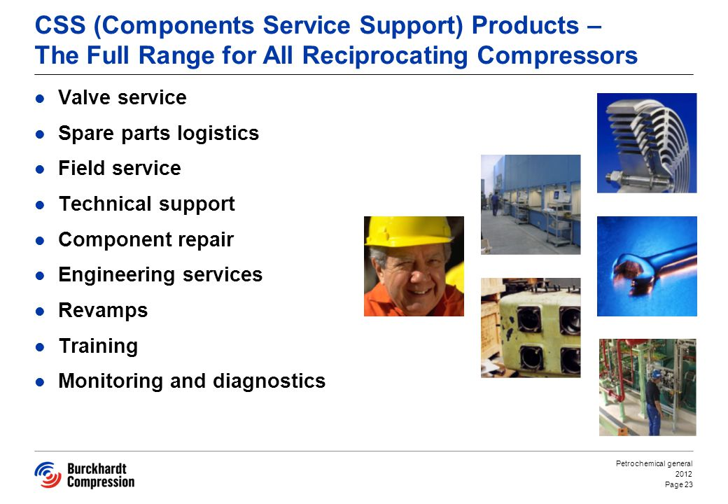 CSS (Components Service Support) Products – The Full Range for All Reciprocating Compressors