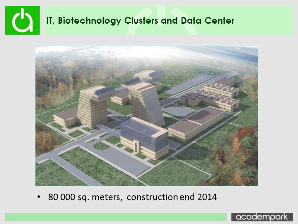 80 000 sq. meters, construction end 2014