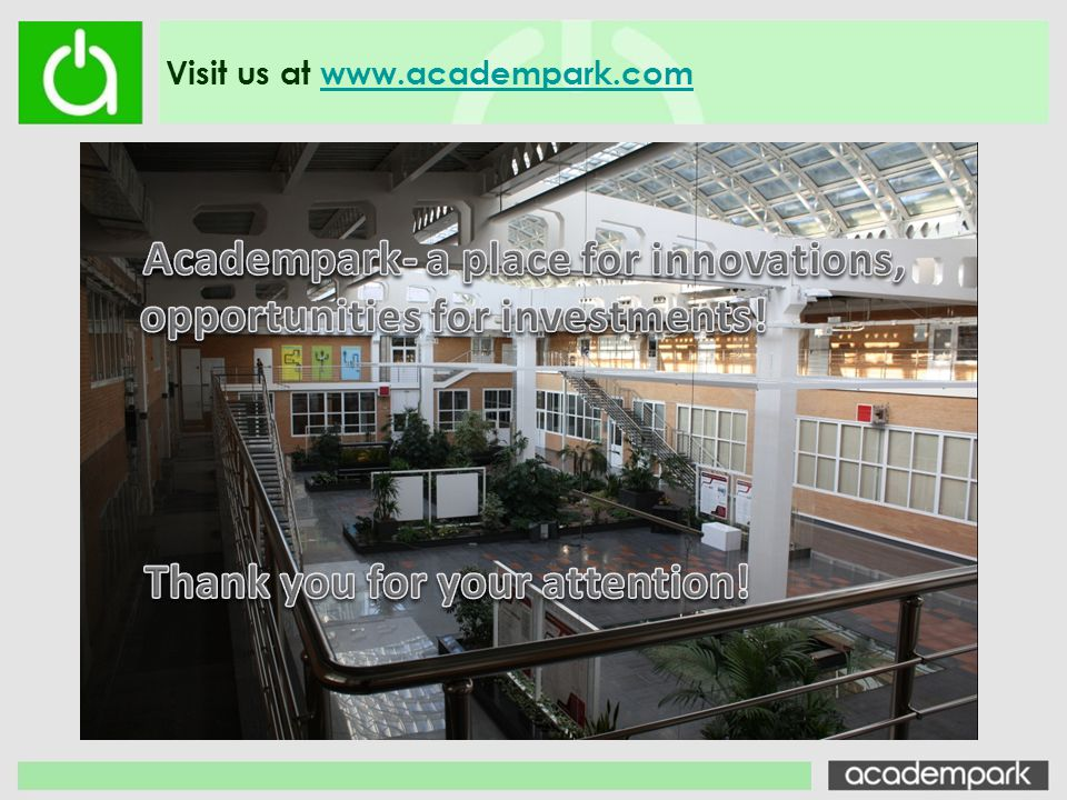 Academpark- a place for innovations,
