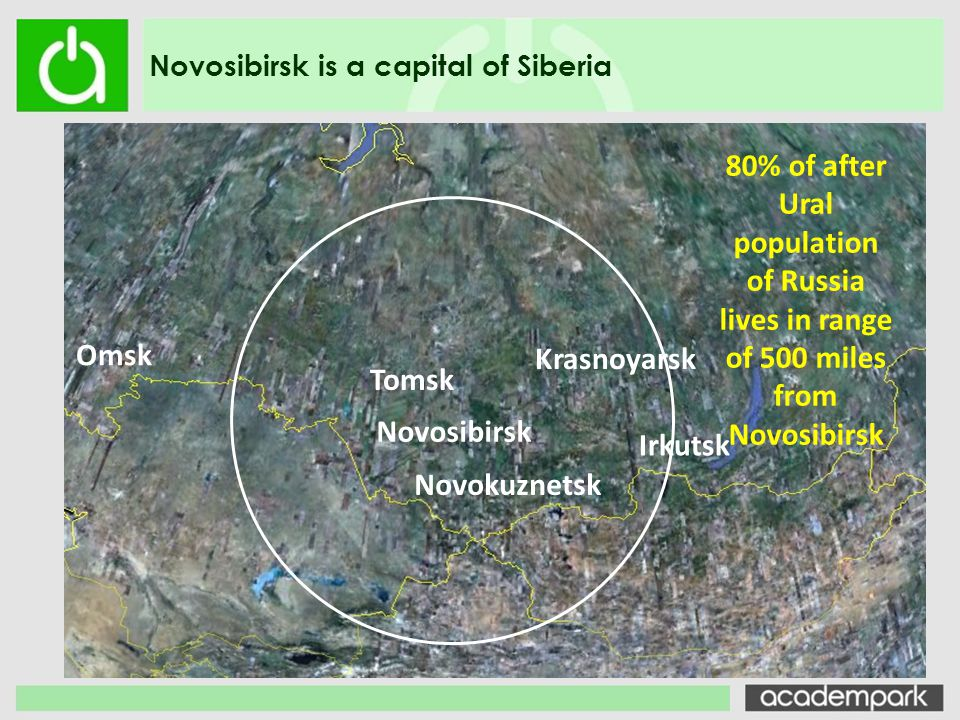 Novosibirsk is a capital of Siberia