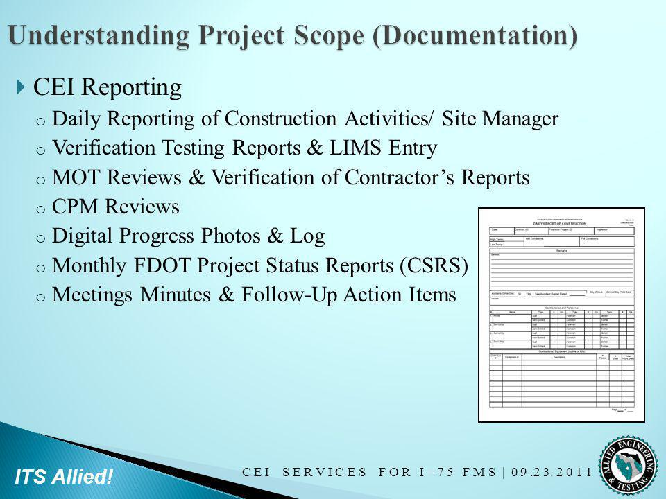 Understanding Project Scope (Documentation)