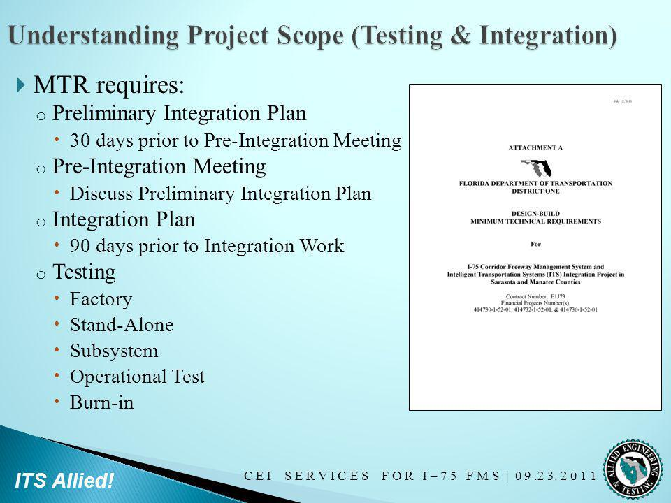 Understanding Project Scope (Testing & Integration)