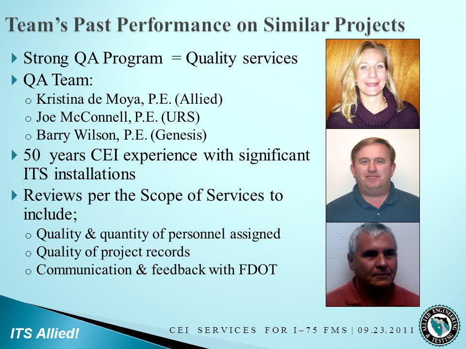 Team's Past Performance on Similar Projects