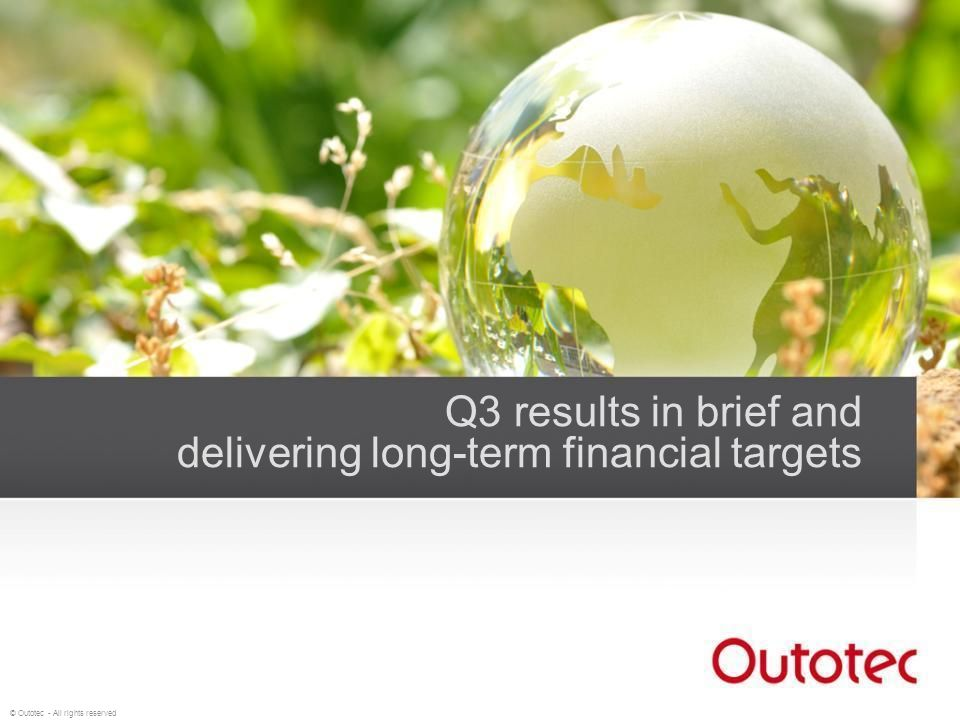 Q3 results in brief and delivering long-term financial targets