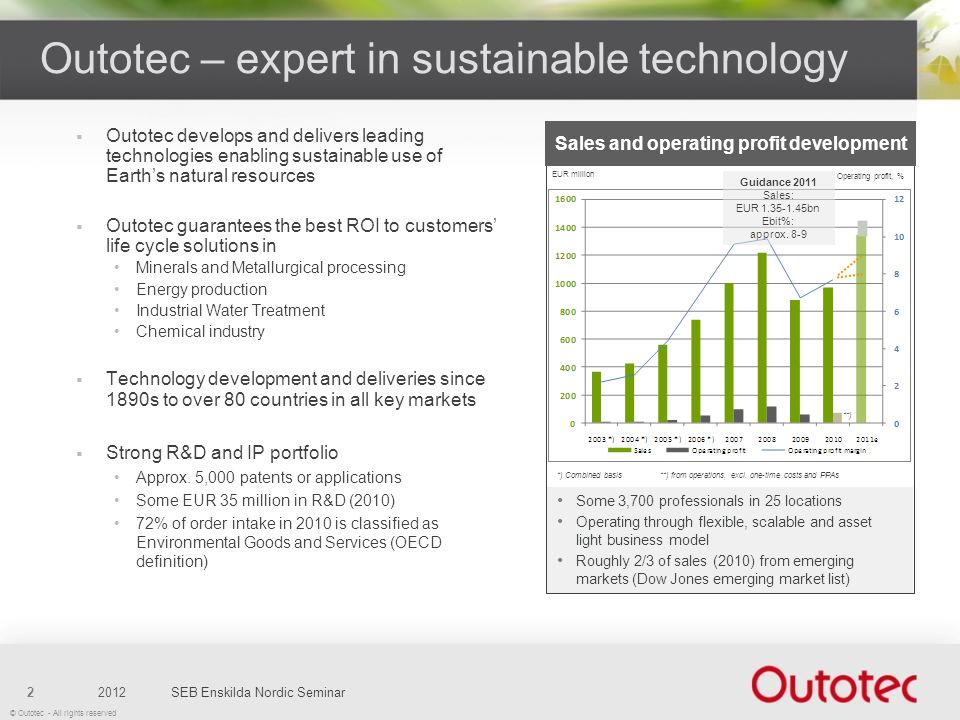 Outotec – expert in sustainable technology