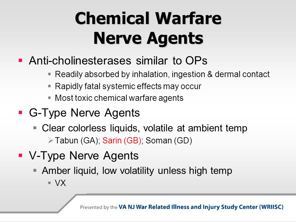 Chemical Warfare Nerve Agents