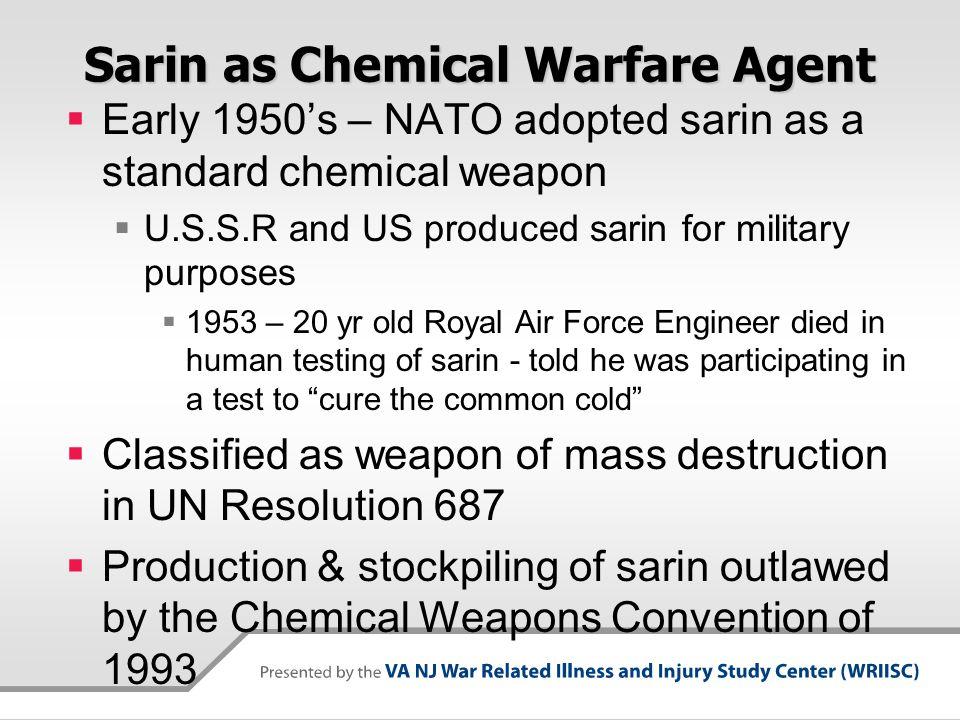 Sarin as Chemical Warfare Agent