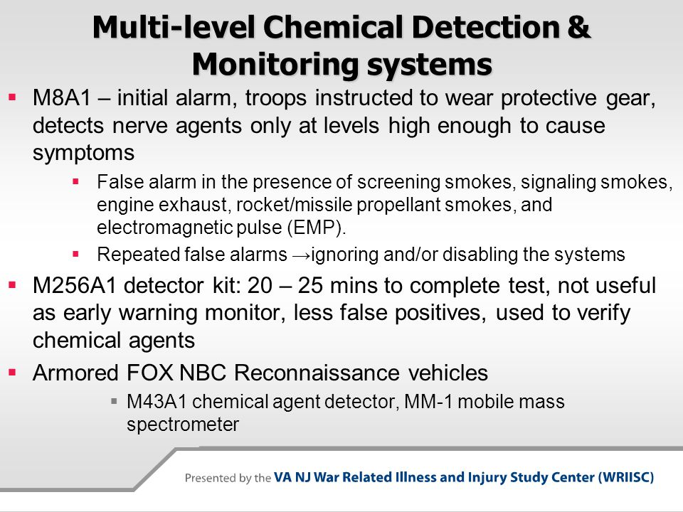 Multi-level Chemical Detection & Monitoring systems
