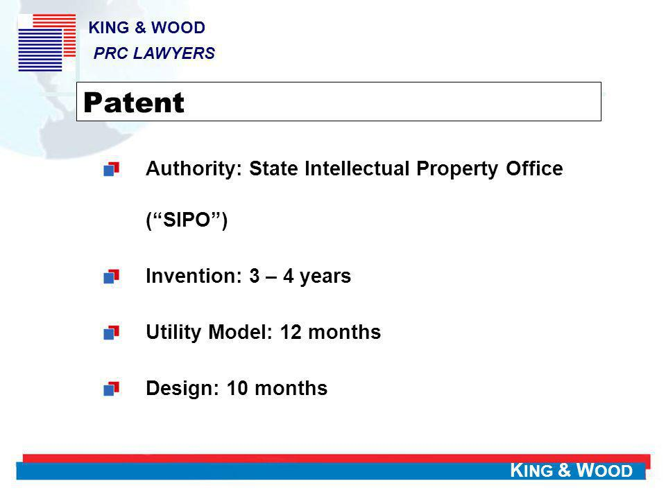Patent Authority: State Intellectual Property Office ( SIPO )