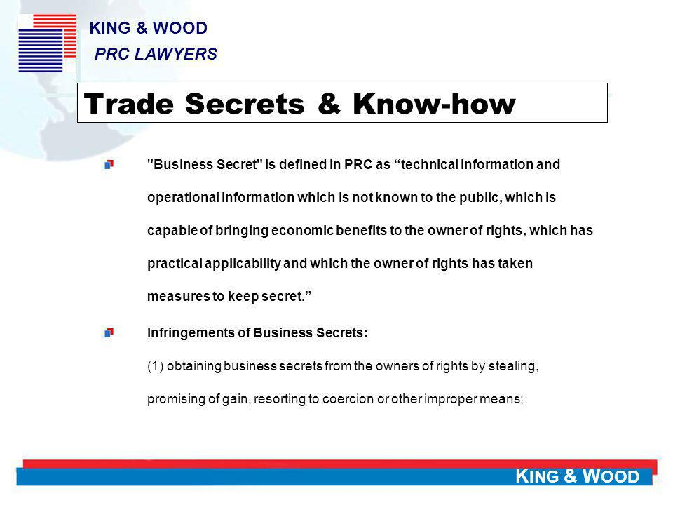 Trade Secrets & Know-how