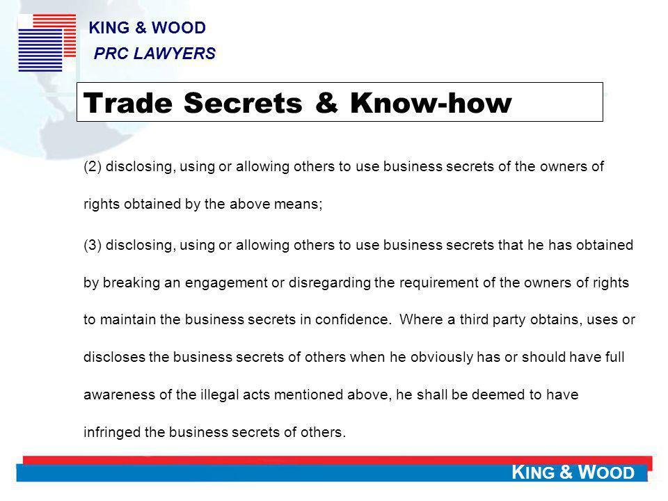 Trade Secrets & Know-how