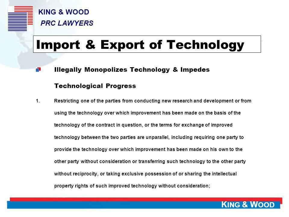 Import & Export of Technology
