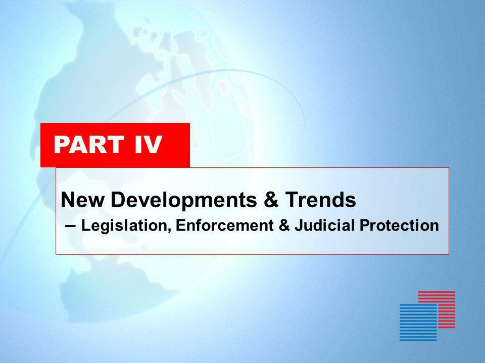 PART IV New Developments & Trends