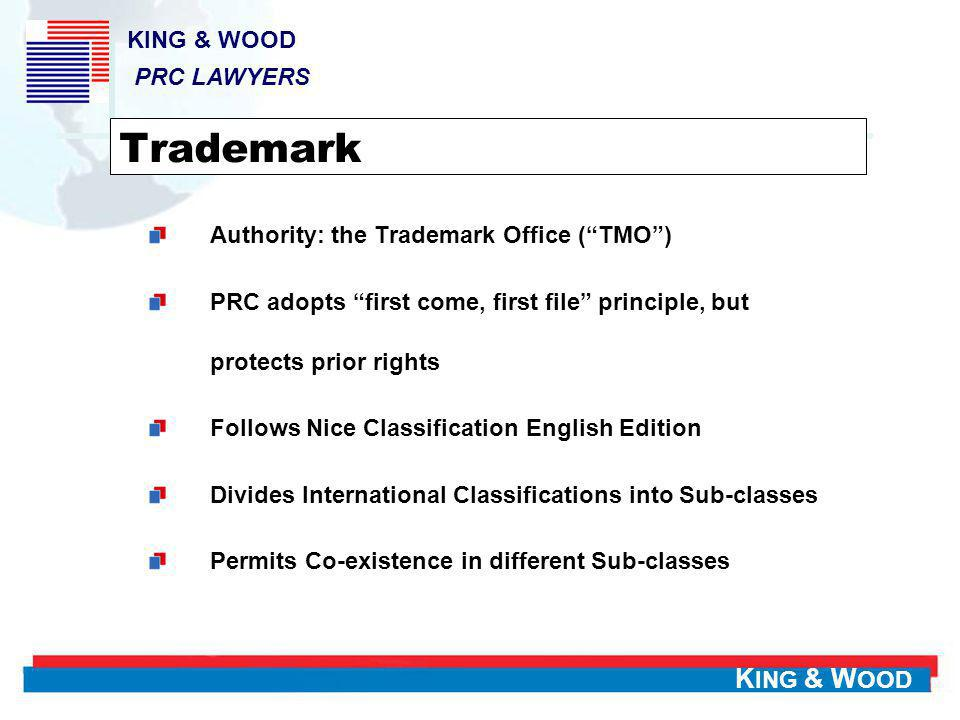 Trademark KING & WOOD PRC LAWYERS