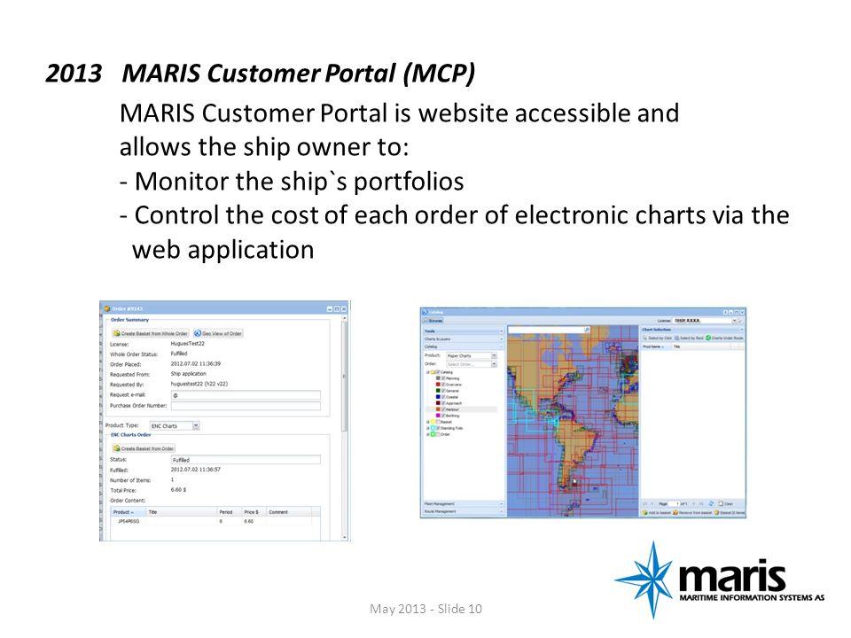 2013 MARIS Customer Portal (MCP)