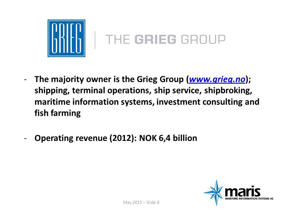 Operating revenue (2012): NOK 6,4 billion