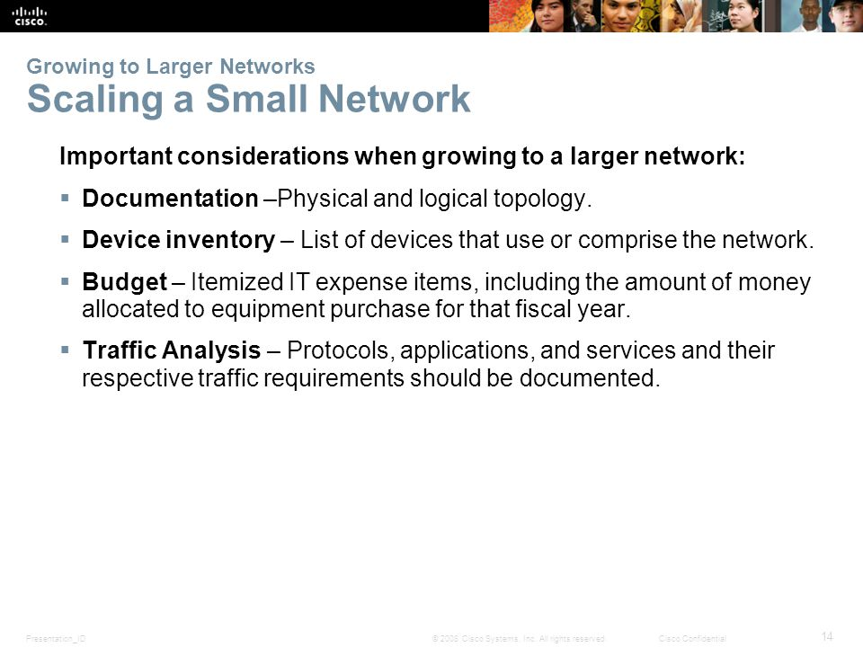 Growing to Larger Networks Scaling a Small Network