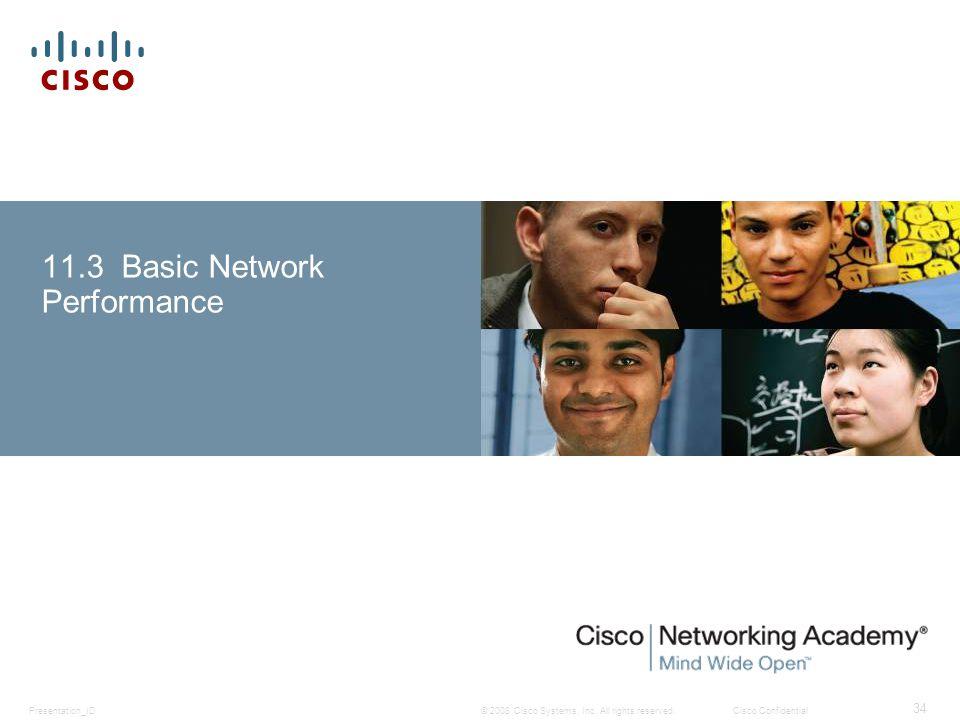 11.3 Basic Network Performance