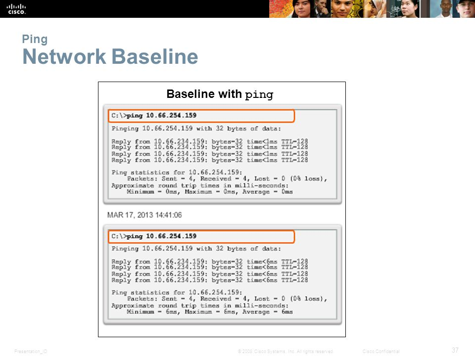 Ping Network Baseline Baseline with ping 11.3.1.3 Network Baseline