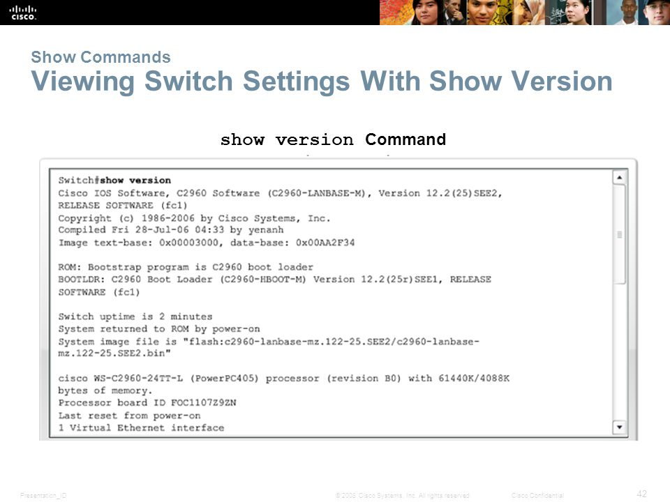 Show Commands Viewing Switch Settings With Show Version