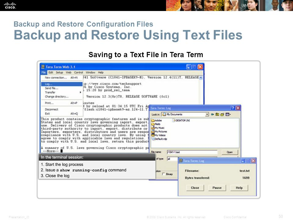 Saving to a Text File in Tera Term