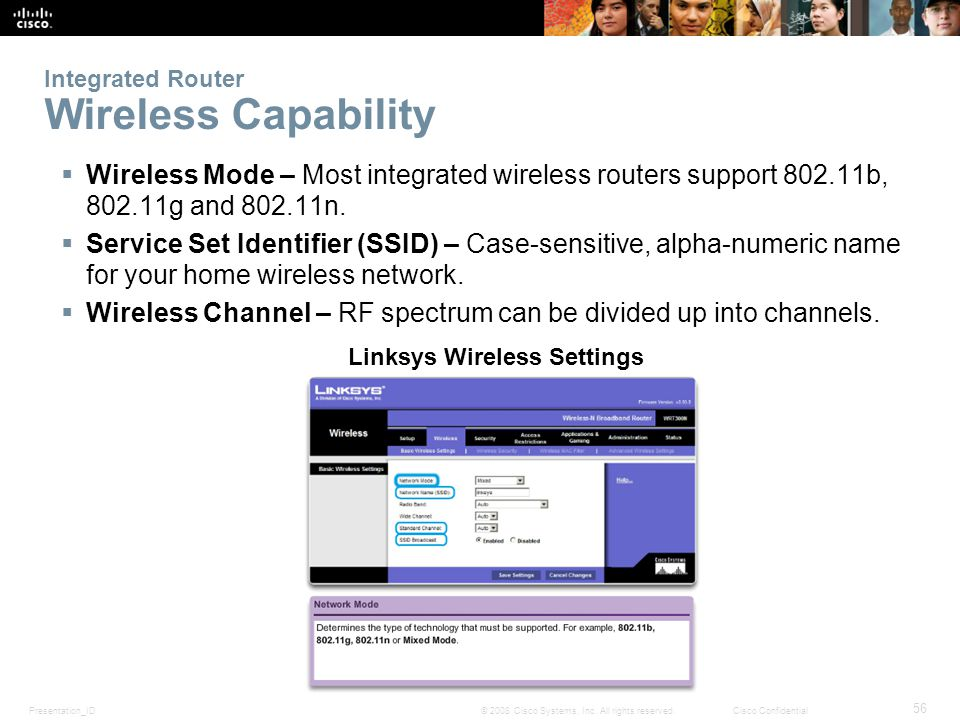 Integrated Router Wireless Capability