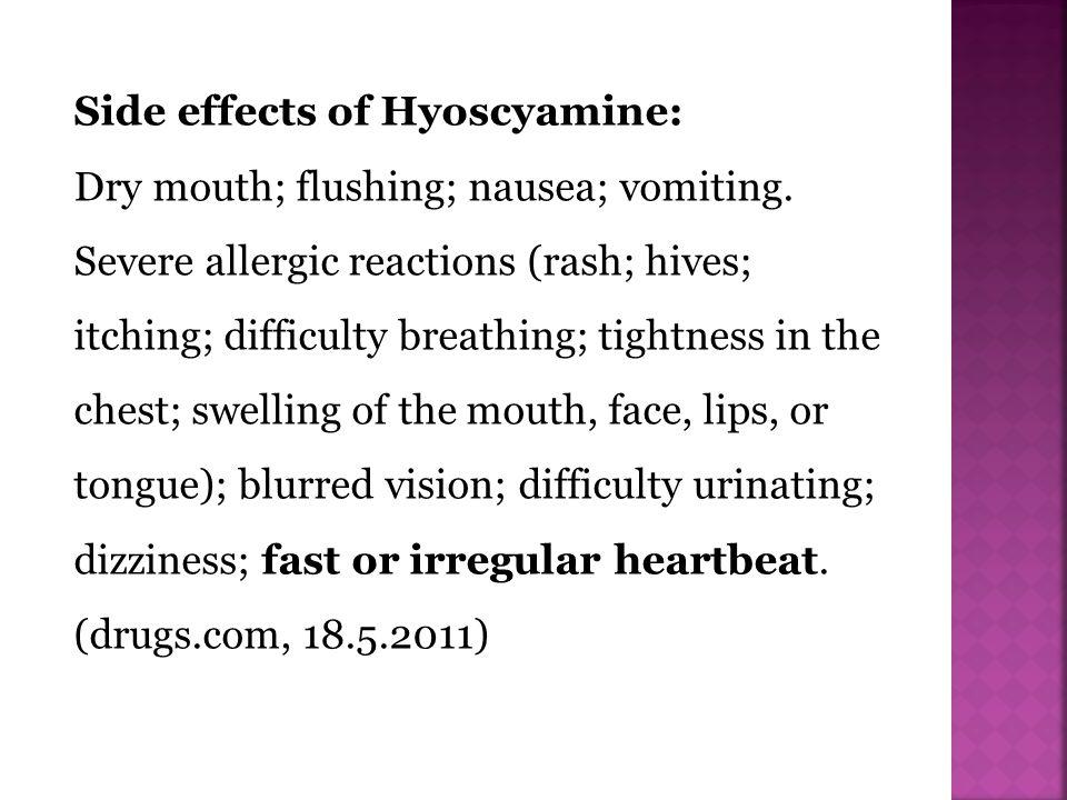 Side effects of Hyoscyamine: