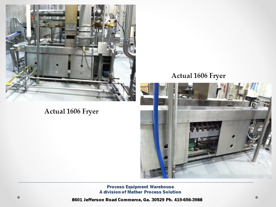 Actual 1606 Fryer Actual 1606 Fryer Process Equipment Warehouse