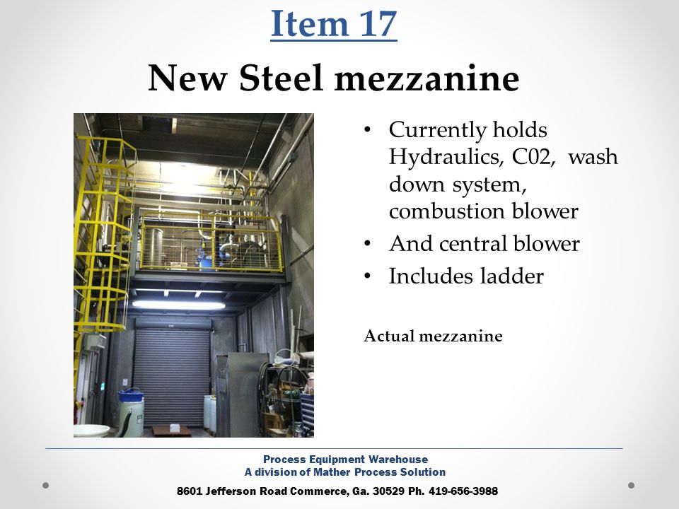 Item 17 New Steel mezzanine
