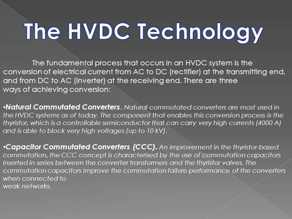 The HVDC Technology