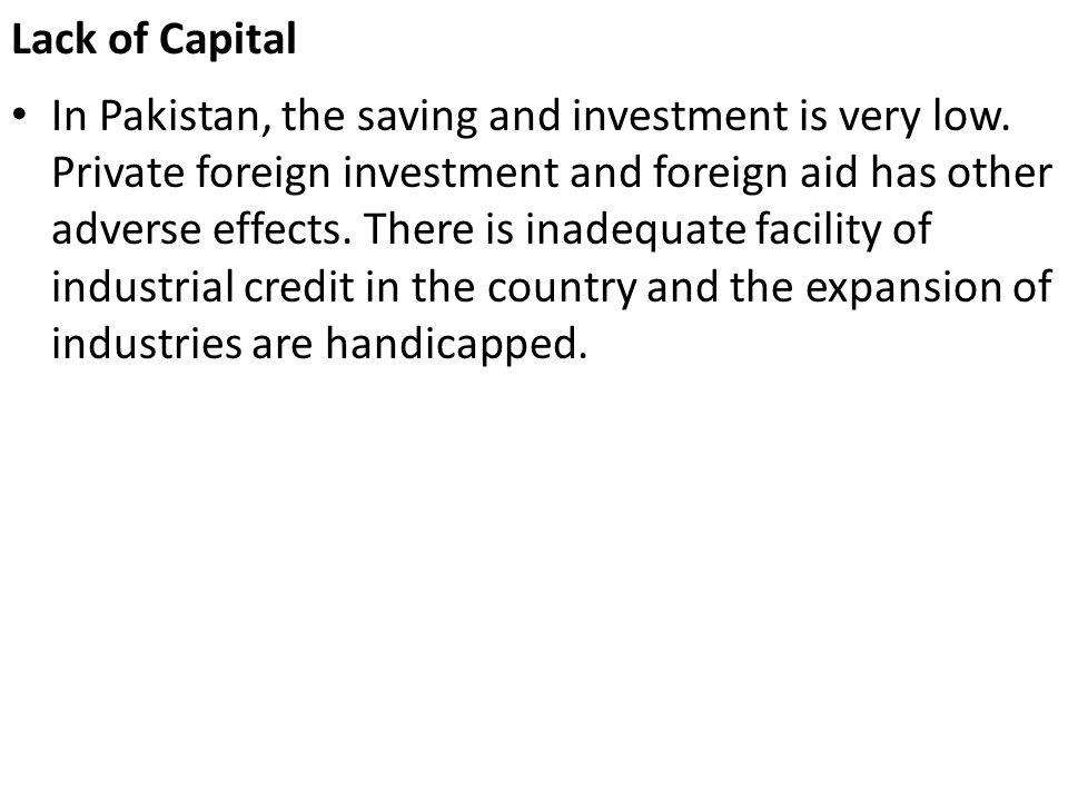 Lack of Capital