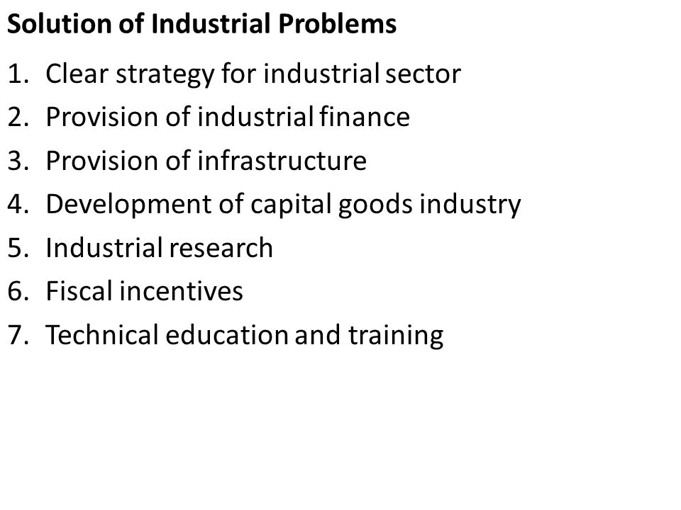 Solution of Industrial Problems