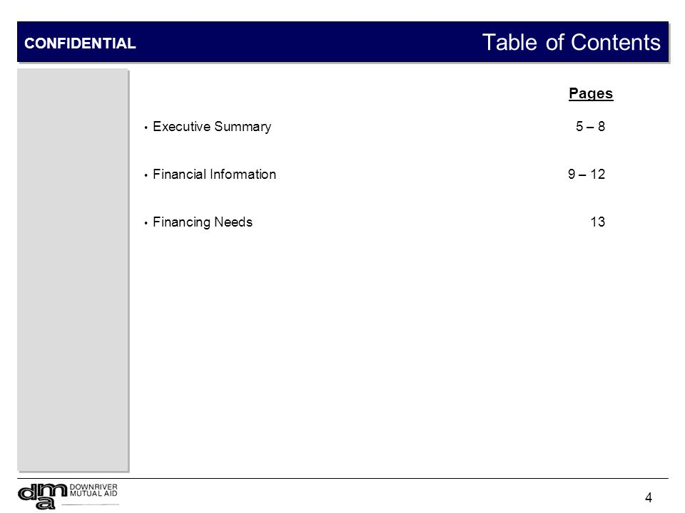 Executive Summary CONFIDENTIAL DCC Overview