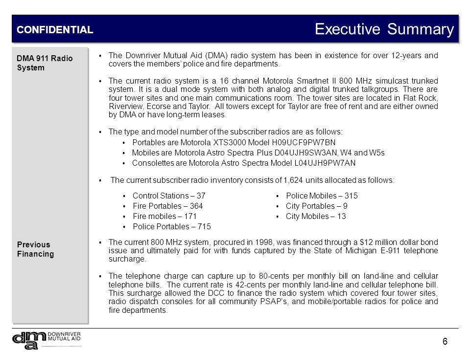 Executive Summary CONFIDENTIAL