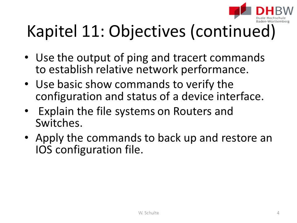 Kapitel 11: Objectives (continued)
