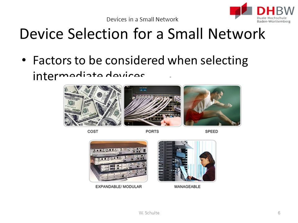 Devices in a Small Network Device Selection for a Small Network
