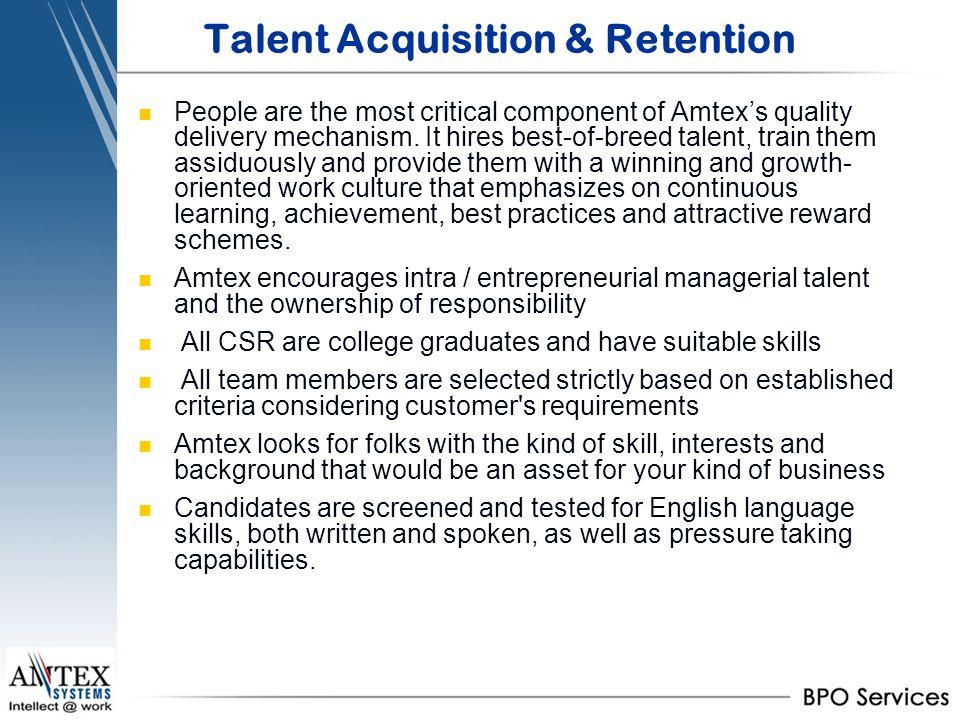 Talent Acquisition & Retention