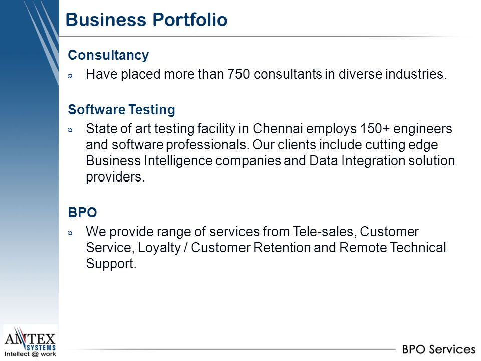 Business Portfolio Consultancy