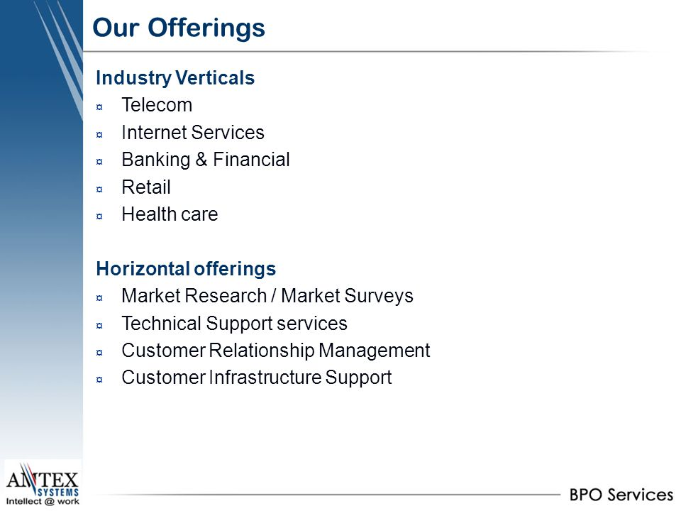 Our Offerings Industry Verticals Telecom Internet Services