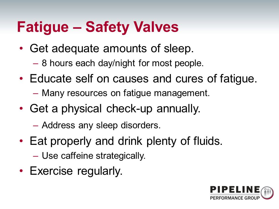 Fatigue – Safety Valves