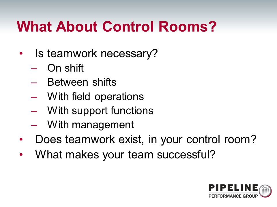 What About Control Rooms
