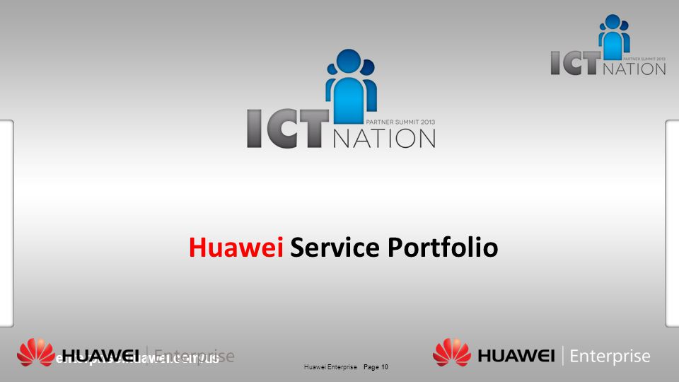 Huawei Service Portfolio