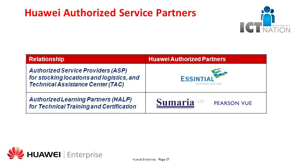 Huawei Authorized Service Partners