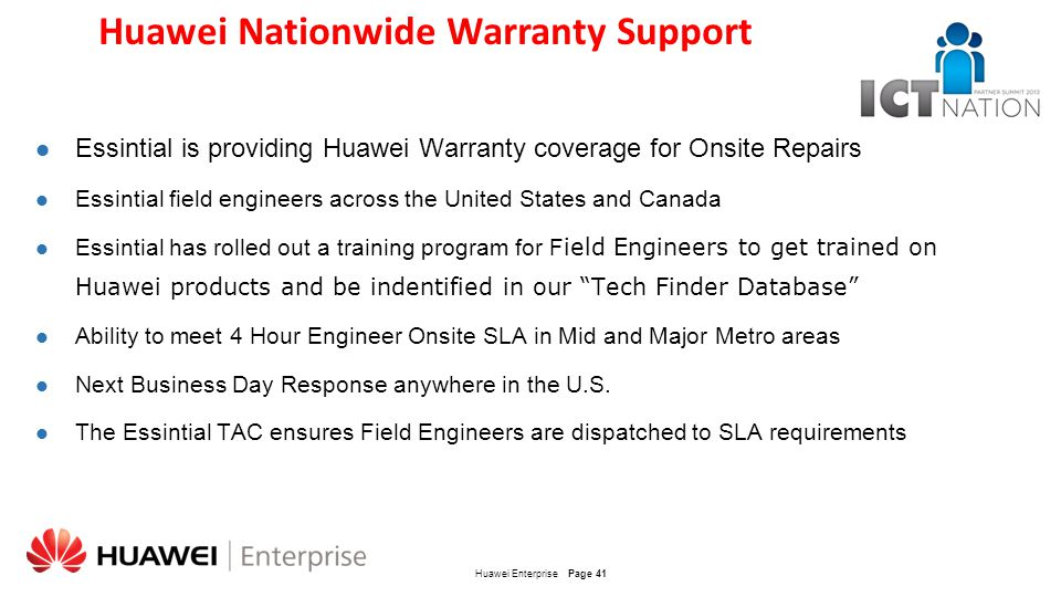 Huawei Nationwide Warranty Support