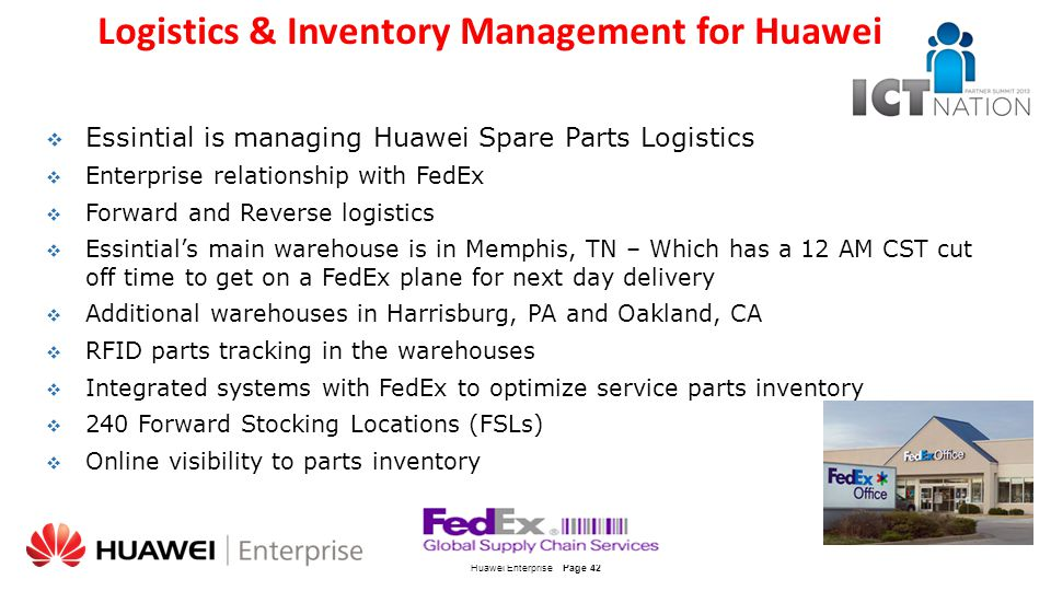 Logistics & Inventory Management for Huawei