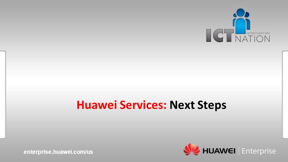 Huawei Services: Next Steps